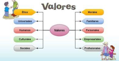 Lista y clasificación de los valores